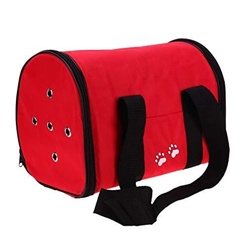 LOOEST Oxford-Tuch-Haustier-Tragetasche Hund Katze Tasche Faltbare Haustier-Spielraum-Fördermaschine Ideal for Welpen, Katze, Kaninchen und andere Kleintiere Zum Reisen ausgehen
