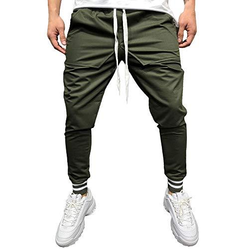 Sannysis Herren Hose Cargo Chino Jeans Sportbekleidung Baggy Slim Fit Hosen Slacks Sweatpant Rot/Armee-Grün/Schwarz/Weiß/Dunkelgrau