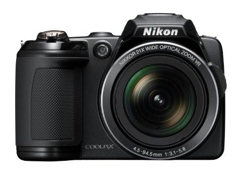 Nikon Coolpix L120 Digitalkamera (14 Megapixel, 21-fach opt. Zoom, 7,5 cm (3 Zoll) Display, HD Video, bildstabilisiert) schwarz (Coolpix L120)