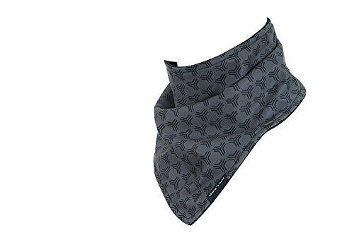 Hilltop Design Bandana / Dreieck Halstuch mit Fleece / Halstuch / viele Farben, Farbe/Design:grau schwarz