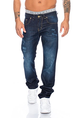 Rock Creek herren jeans hose straight-cut herrenhose blau LL-300 W29-W44