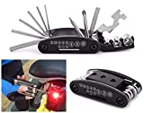 Vanvo Necessary 15 in 1 Multi-Function Bicycle Repair Tool Set Cycling Necessary (Black)