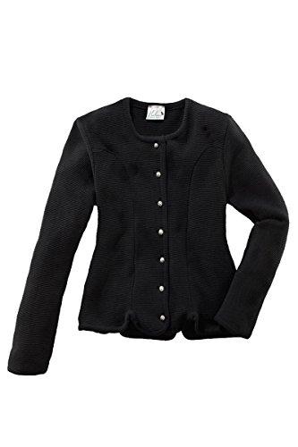 HUBER MOSER Trachten Strickjacke schwarz Anna 123176, Material Baumwolle, 7003055, Größe 42