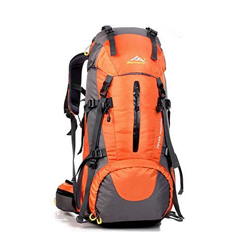 Sumeber Wanderrucksack 50L, Herren Damen 45L+5L Wasserdichter Erwachsene Rucksack Trekkingrucksack R (Orange)