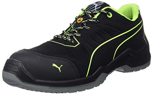 Puma Fuse TC Green Low S1P 644210, Schuhgröße:45 (UK 10.5), Farbe:schwarz/grün