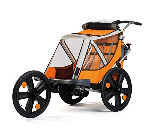 """Bellelli 20""""Jogger W Travel Buggy Children's Children's Trailer Bicycle Trailer Stroller, Orange"""