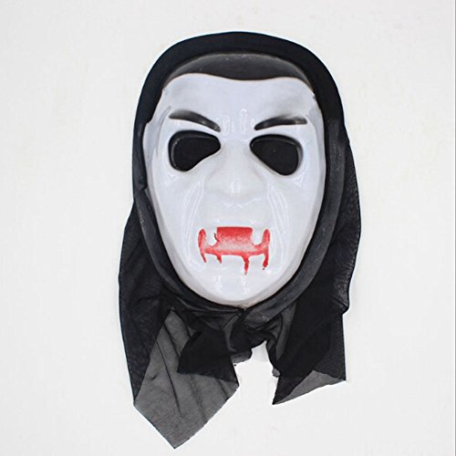 Zantec One Piece Halloween Bleeding Scream Scary Horror Ghost Mask Can Be Used During Dress Party (Mw2 Kostüm Ghost Cod)