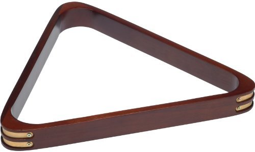 Stained Wood 8 Ball Triangle Rack with Brass Corners by Outlaw Eyewear -