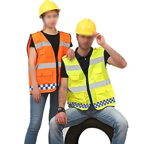 UICICI Reflektierende Weste Sicherheitsweste fluoreszierende Gürtel hohe Sichtbarkeit Arbeit Scherz Fahrrad Fahrrad Verkehr Schutz Nacht Sicherheit Führung fluoreszierende Reflexion Sicherheit zwei We - Reflexion 2 T-shirt