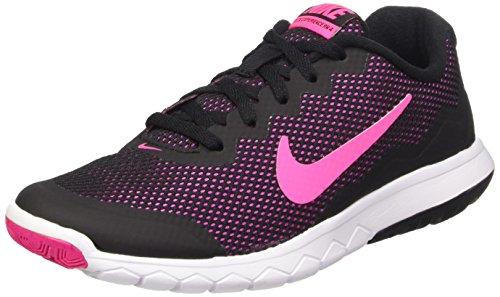 Nike Wmns Flex Experience Rn 4, Chaussures de Running Compétition Femme Noir (Black/Pink Foil/White)