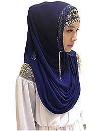 7f1a3d954056 Meijunter Femme Musulmane Hijab Islamique Foulard Voilées - Écharpe  Indienne d Arabie Saoudite Casquettes Pleine
