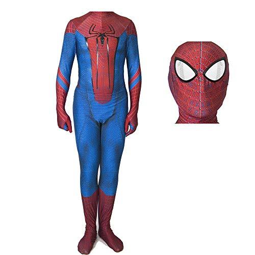 werty Cosplay Kleidung Die Erstaunliche Spider-Man Cosplay Lycra Anime Kostüm 3D Digitaldruck Enge Weihnachten Halloween Kostüm Für Erwachsene Tragen The Headgear can be Divided-XXXL