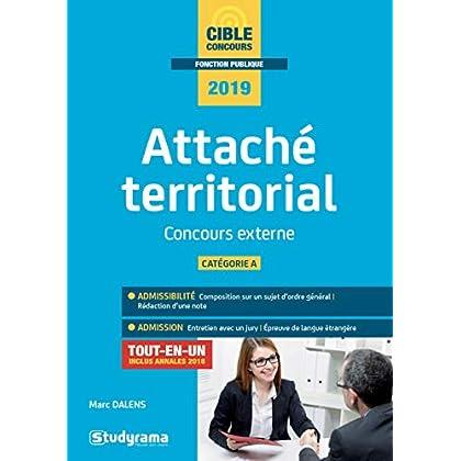 Attaché territorial catégorie A : Concours externe