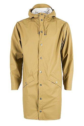 RAINS Herren Regenmantel Long Jacket Brown (Khaki)