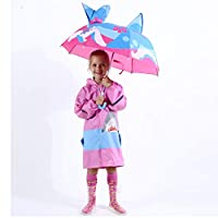 Kidorable Shark Umbrella for Boys with Fun Hammerhead Handle, Pop-Up Fin, Ocean Trim