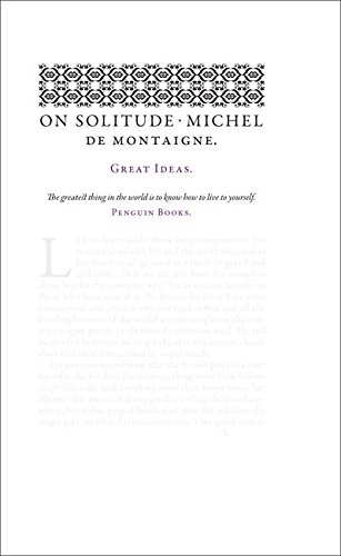 On Solitude (Penguin Great Ideas)