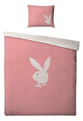 Unbekannt Klang und Kleid 404446 Playboy Bettwäsche 140 x 200 cm Plus 70 x 90 cm, rosa