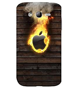 printtech Apple Flaming Back Case Cover for Samsung Galaxy Grand Neo Plus / Samsung Galaxy Grand Neo Plus i9060i