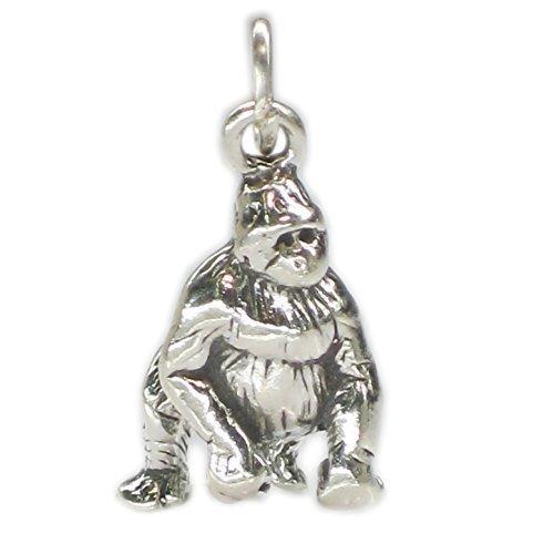 Gorilla in argento sterling 925 a forma di x, scimmia danzante SSLP2663 silverback Gorilla
