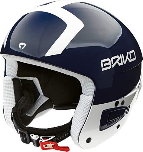Briko Vulcano FIS 6.8 - Casco da Sci, Shiny Blau/Weiss, 60