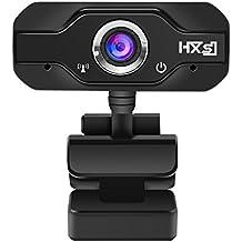 Webcam PC, EIVOTOR Telecamera PC 720p Full HD con Microfono Stereo, USB Web Cam per Facetime / Video Chat / Registrazione, Compatibile con Windows / Mac / Android, Nero