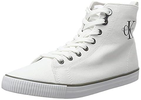 Calvin Klein Jeans Damen Dolores Canvas High-Top, Weiß (Wht), 38 EU (Calvin Klein Sneakers)