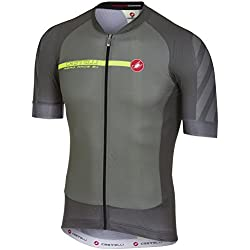 Castelli Maillot De Ciclismo De Manga Corta 2018 Aero Race 5.1 Fz Forest Gray (L, Verde)