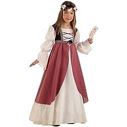 Lima MI389 T5 - Disfraz de doncella medieval infantil, talla 9-11 años