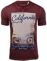 Tokyo Laundry - T-shirt style 'Burnout' Homme Manches courtes Imprimé 'California'