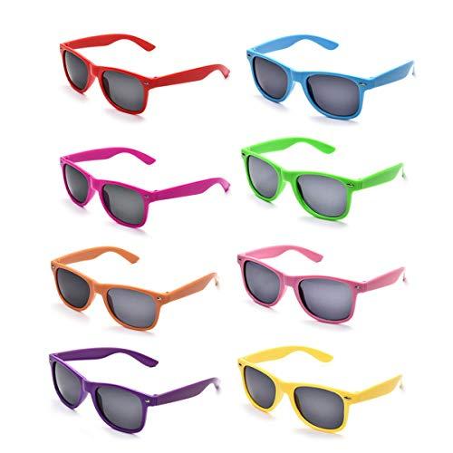 Pibupibu Unisex neonfarben-party-bevorzugung supplies sonnenbrillen mehrfarbig (Party Sonnenbrille Supplies)