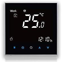 BECA 2000 Series 16A Pantalla táctil LCD Calefacción eléctrica Termostato de control de programación inteligente con conexión WIFI (Calefacción eléctrica, Negro(WIFI))