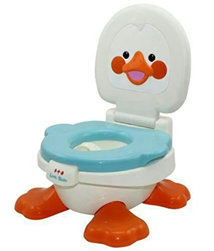 Panda Duck Potty Training Seat With Removable Bowl & Closable Cover (Blue)