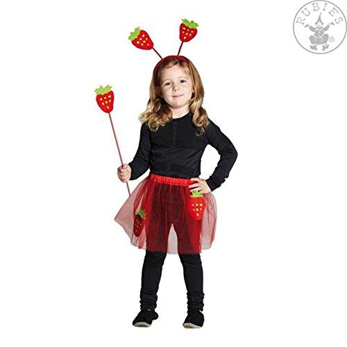 �m Erdbeere Kinderkostüm Kinder Mädchen Frucht 3 teilig ()