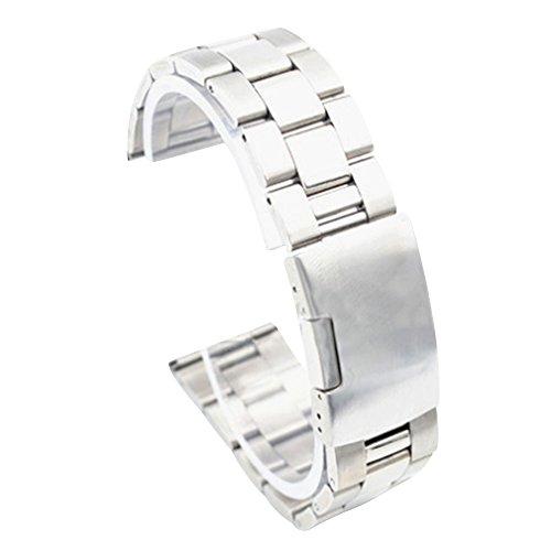 Cuitan 26mm Edelstahl-Uhrenarmband für Smart Uhren (mit Schnittstelle 26mm) (Nicht Inklusiv Uhren), Solide Ersatz-Uhrenarmband Uhrband Watchband Watch Band Smart Watch Strap - Silber (Zubehör Echte Stella)
