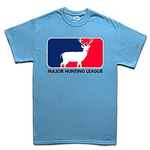 Major Hunting League Deer Camping Outdoor T-shirt Hellblau