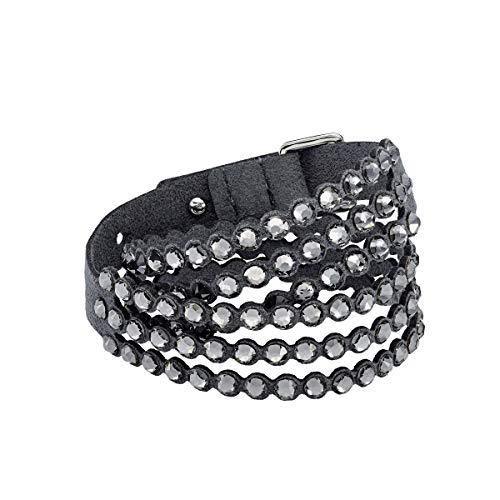 Swarovski bracciale da donna power collection, cristallo grigio
