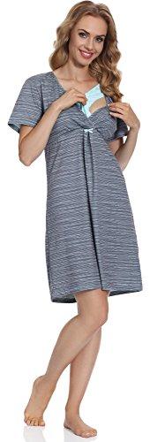 Cornette Damen Stillnachthemd CR6932016 (Muster-07, XL) (Runde-hals-mutterschaft-kleider)