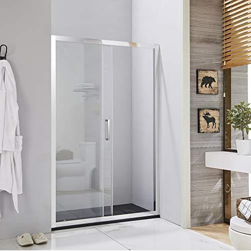 Box doccia porta scorrevole per nicchia profilo cromato altezza 195 cristallo 6 anticalcare