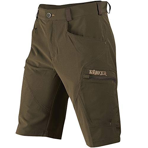 Härkila Tech Kurze Jagdhose | Jagdshorts | Outdoorshorts | Ripstop Hose (Willow Green, 56) - Die Tech-hose