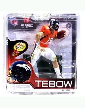 McFarlane Toys Action Figure - NFL Sports Picks 2012 Series 30 - TIM TEBOW (Bronco Orange Jersey)
