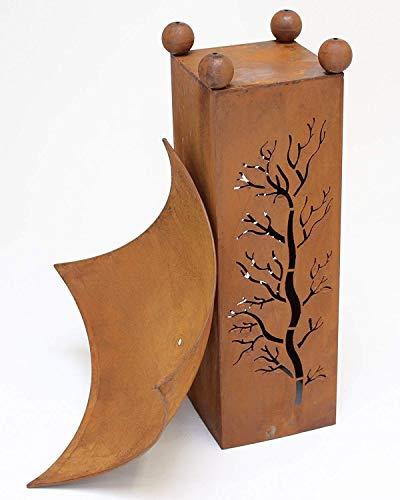 Design-Feuerschale mit Dekosäule - 5