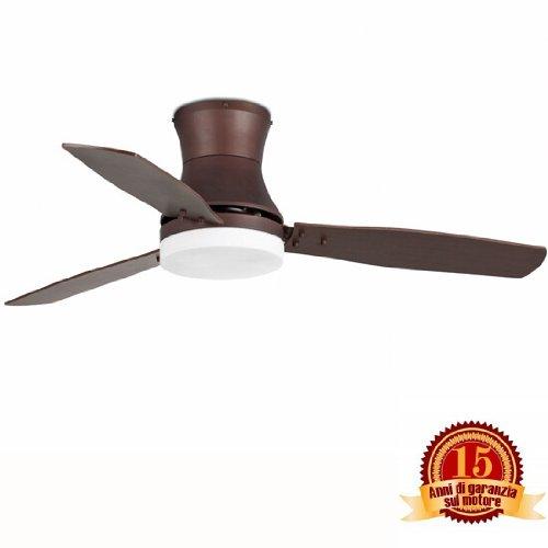 FARO 33386 Ventilador de techo con luz marrón 3 palas diametro 1320mm...