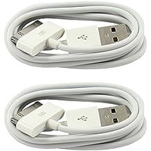 2x Original iPrime® 1 Meter USB Kabel Ladekabel Datenkabel für Apple iPhone 4/4s, iPhone 3G/3GS, iPad 1/2/3, iPod Touch 3/4, iPod Nano 5/6 in Weiß - 1m