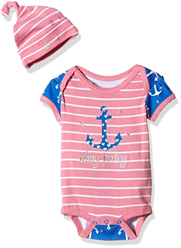 little-blue-house-by-hatley-baby-madchen-body-lbh-infant-one-piece-und-beanie-set-nautical-anchors-r
