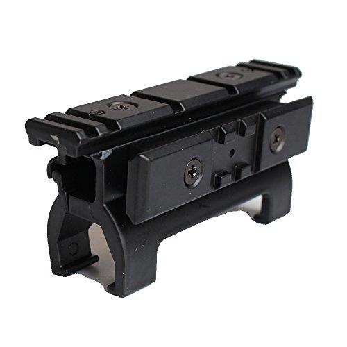 NOGA Base di Montaggio per Riser Full Metal con Guida per tessitore Picatinny da 20 mm per Accessori da Caccia Marui MP5