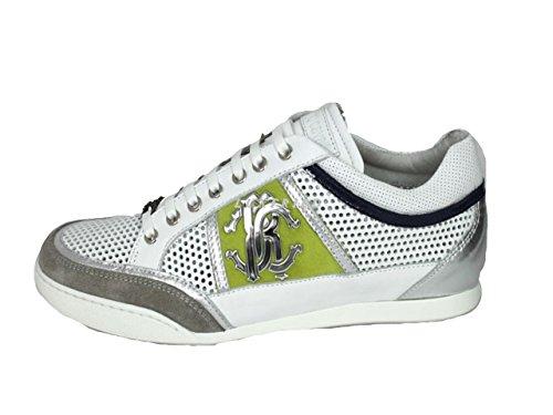 Roberto Cavalli, Sneaker uomo, Bianco (bianco), 43