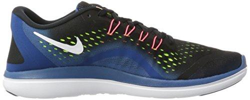 Nike Herren Flex 2017 RN Laufschuhe Mehrfarbig (Black/White-Industrial Blue-Blue Legend)