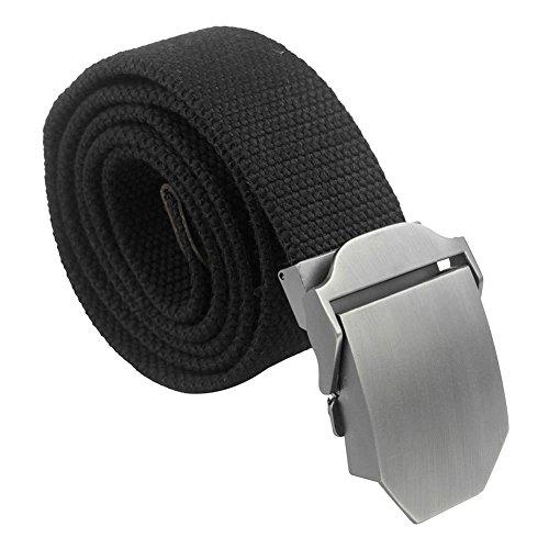Contever® sport cintura - metallo fibbia tela belt / all'aperto cinghia in cintola rapida disconnetti per uomo (nero)