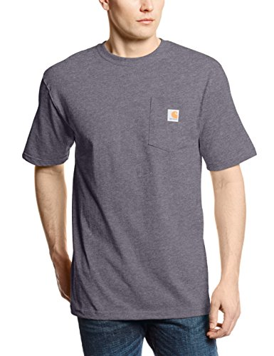 Carhartt Workwear Pocket Herren T-shirt - Carbon Heather - Large (Pocket Carhartt)