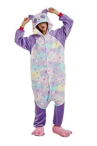 Mystery&Melody Süßes Einhorn Overalls Jumpsuits Pyjama Fleece Nachtwäsche Schlaflosigkeit Halloween Weihnachten Karneval Party Cosplay Kostüme für Unisex Kinder und Erwachsene (XL, ()